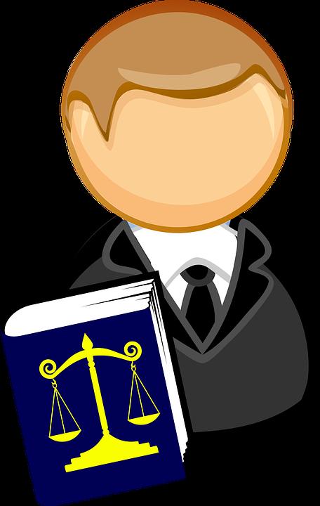 Prawnik na rozprawie